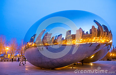 Cloud Gate Editorial Image Image 32164430