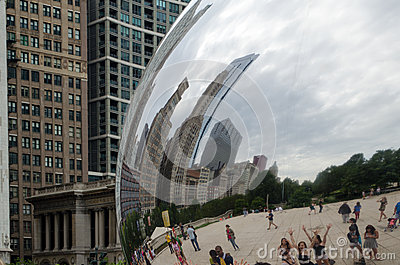 Cloud gate close up Editorial Stock Photo
