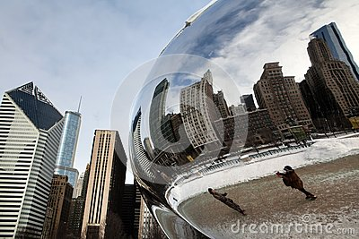 Cloud Gate Winter Editorial Image