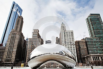 Cloud Gate Winter Editorial Photo