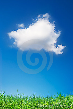 Cloud and grass