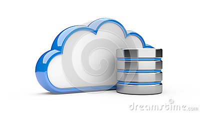 Cloud with hdd, database concept