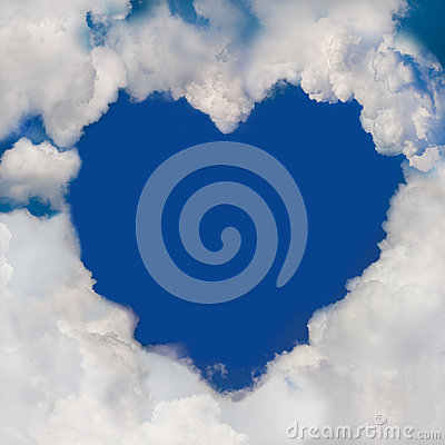 Free Cloud Heart Royalty Free Stock Images - 28735109