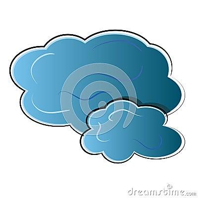 Cloud icon. nature symbol