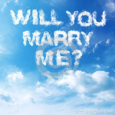 Cloud Marriage Proposal