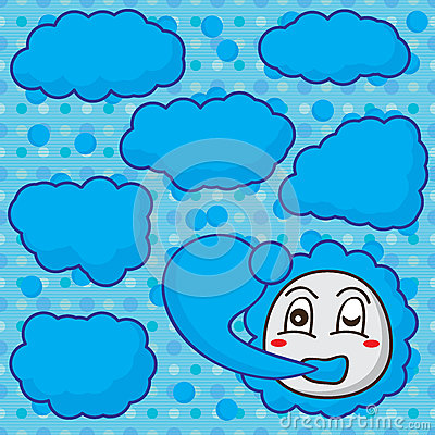cloud template with lines - cloud mascot make cloud seamless pattern stock vector