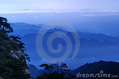 The cloud and mist of Sanqingshan mountain