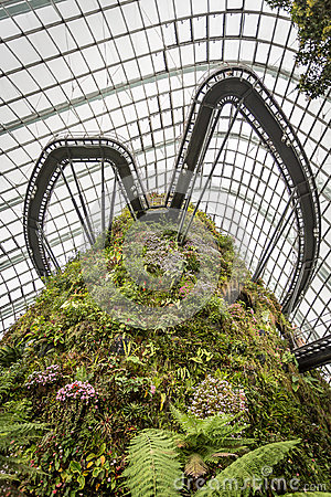 Cloud mountain and walkway, Cloud Forest Singapore Editorial Image
