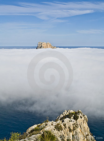 Cloud Between Mountains