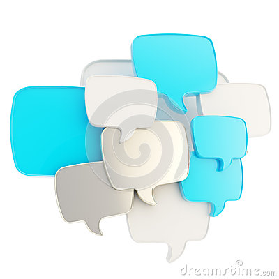 Free Cloud Of Text Bubbles Grouped As Plate Banner Stock Photography - 34578502