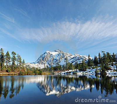 Cloud over Mount Shuksan