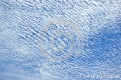 Cloud pattern on blue sky