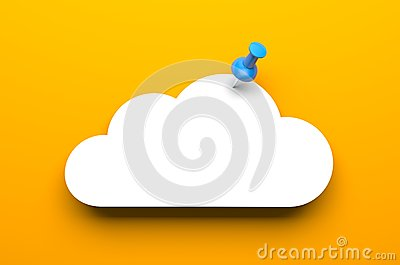 Cloud with pin