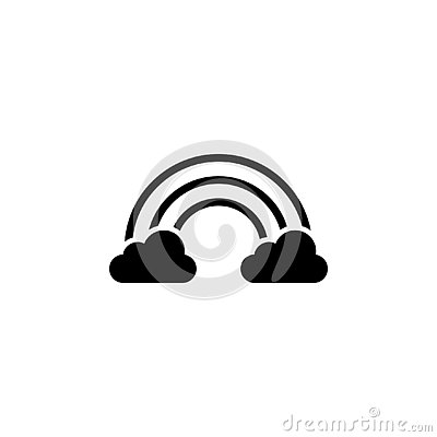 Cloud and rainbow icon. Element of weather illustration. Signs and symbols can be used for web, logo, mobile app, UI, UX Vector Illustration
