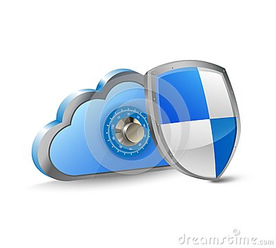 Cloud and security shield