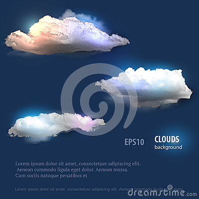 Free Cloud Set For Your Design Royalty Free Stock Images - 54206849