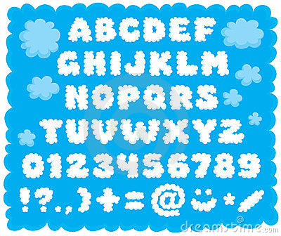 Cloud-shaped font