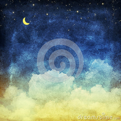 Cloud and sky at night