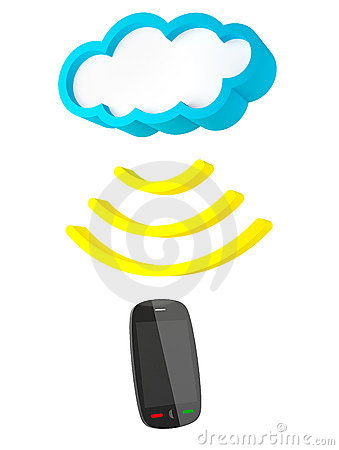 Cloud and smartphone receiving data