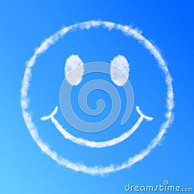 Cloud smile face