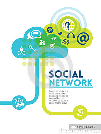 Free Cloud Social Media Network Concept Background Design Layout Stock Photos - 39461573