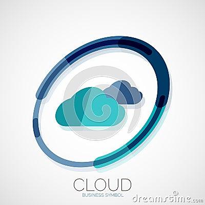 Cloud storage  3d company logo  business symbol concept  minimal line    Cloud Storage Companies