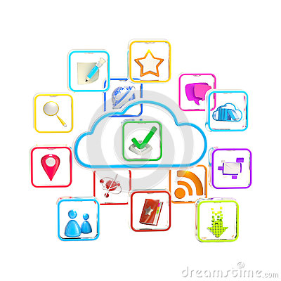 Cloud technology application store icon