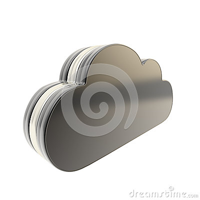 Cloud technology disk space emblem icon