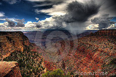 Cloudburst over Grand Canyon