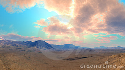 Clouded desert Landscape