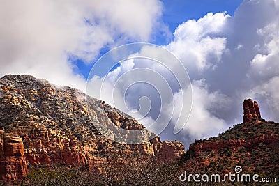 Clouds Blue Sky Red Rock Canyon Sedona Arizona