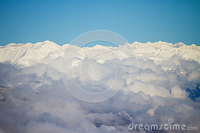 Clouds on Dolomites