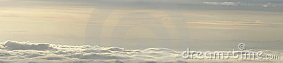 Clouds and fog panorama