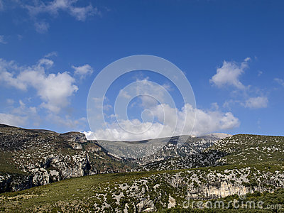 Clouds in guara s mountains