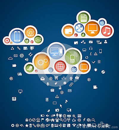 Clouds of icons