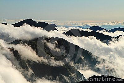 Clouds in mountain,Fagaras , Romania
