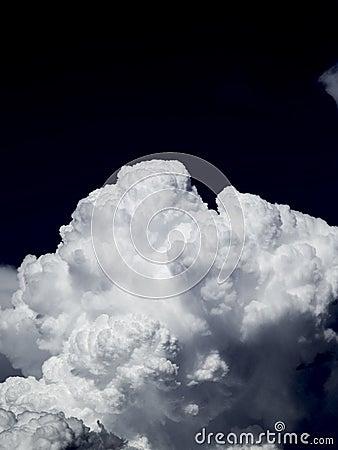 Clouds in Night Sky