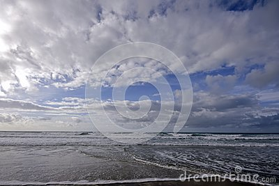 Clouds and ocean in Portugal