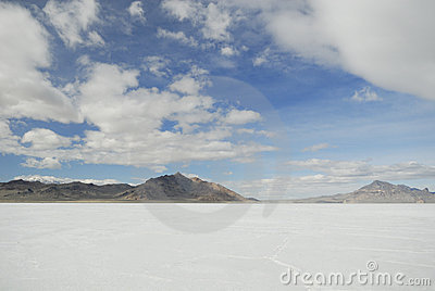 Clouds over Bonneville Salt Flats, Utah