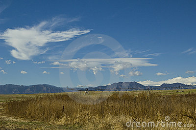 Clouds over the front range of Colorado