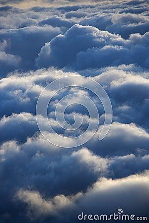 Clouds over Haleakala Park.
