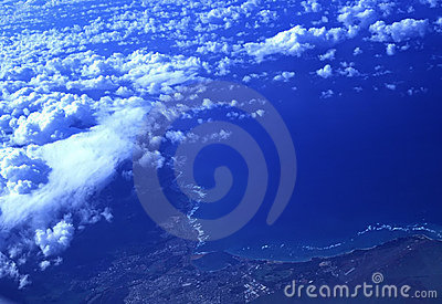 Clouds over tropical paradise, Oahu, Hawaii