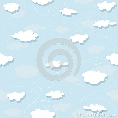 Vector Art Chinese Cloud Pattern Isolated on red background