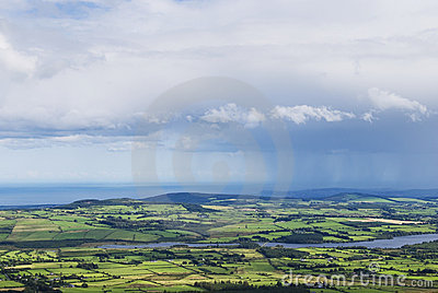 Clouds and rain above the country