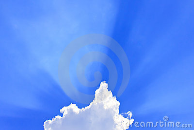 Clouds with rays