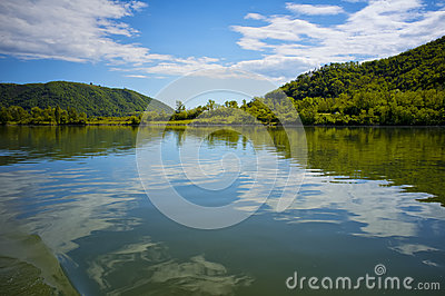Clouds Reflected, Rhone River, France