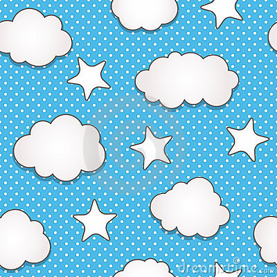 Free Clouds Seamless Pattern Stock Photos - 19405123