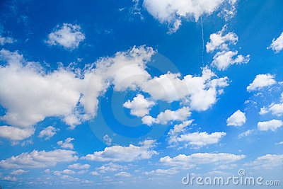 Clouds on sky