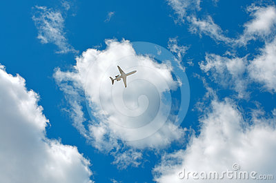 Clouds, sky, plane