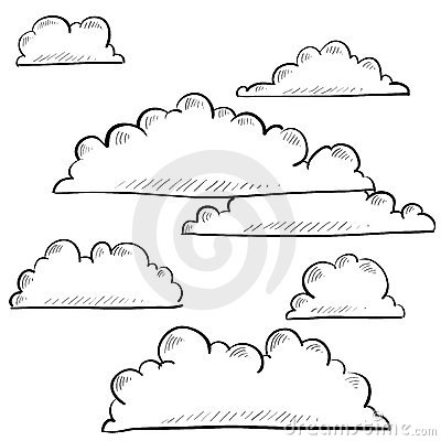 Clouds and sky sketch